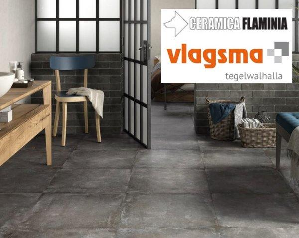 Badkamer Tegels Ceramico : Flaminia xxl vloertegels tegels flaminia betonlook 80x80 cm
